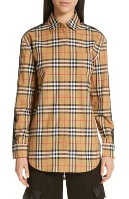 Burberry Saoirse Vintage Check Cotton Shirt