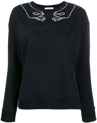 VIVETTA embroidered logo jumper