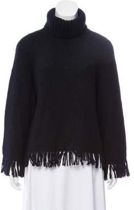 Tory Burch Fringe Turtleneck Sweater