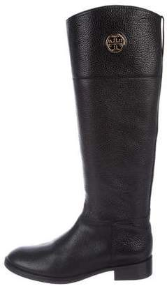 Tory Burch Junction Leather Riding Boots