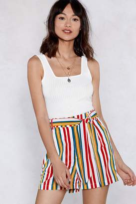Nasty Gal Set It Straight Striped Shorts