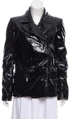 Chanel Fur-Lined Patent Leather Jacket