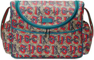 Gucci Wolf GG Supreme Diaper Bag