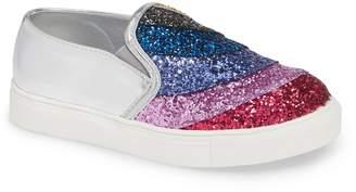 Mia Zadie Rainbow Glitter Slip-On Sneaker