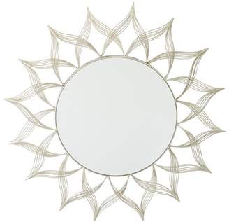 Office Star OSP Designs by Products Matte Gold Metal Round Mirror