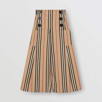 Burberry Icon Stripe Cotton Sailor Trousers