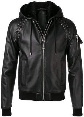 Les Hommes fur-trimmed hooded jacket