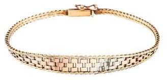 14K Tri-Color Bracelet