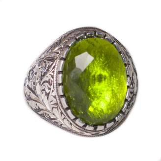 Express Falcon Jewelry Sterling silver men ring, steel pen craft handmade, created-emerald stone, Shipping