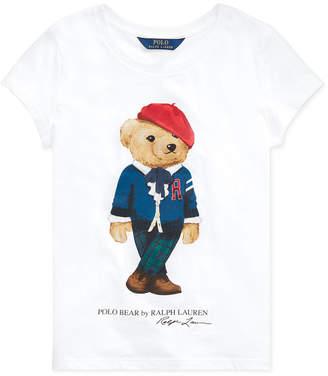 Polo Ralph Lauren Toddler Girls Jersey Cotton Bear T-Shirt
