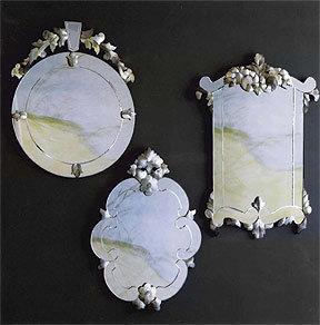 Roost Pearled Venetian Mirror