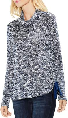 Vince Camuto Funnel Neck Side-Drawstring Sweater