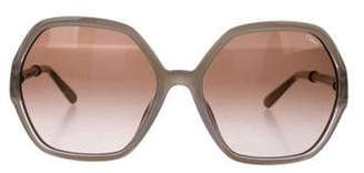 clear Chloé Round Gradient Sunglasses Chloé Round Gradient Sunglasses