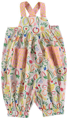 Stella McCartney Assorted Fruit-Print Overalls, Size 6-36 Months