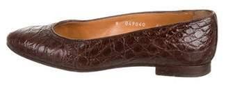 Ralph Lauren Crocodile Ballet Flats