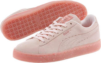 Suede Classic Glitz Womens Sneakers