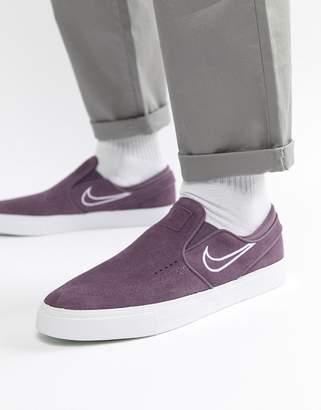Nike Sb SB Zoom Stefan Janoski Slip On Trainers In Purple 833564-500