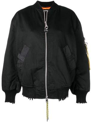 Diesel branded sleeve bomber jacket