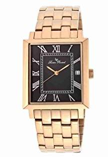 Lucien Piccard Men's LP-10501-RG-11 Bianco Black Dial Rose Gold Ion-Plated Stainless Steel Watch