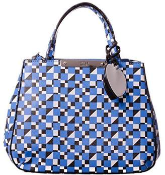 GUESS Britta Printed Saffiano Small Society Satchel