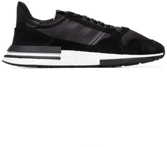 adidas black ZX 500 RM suede sneakers