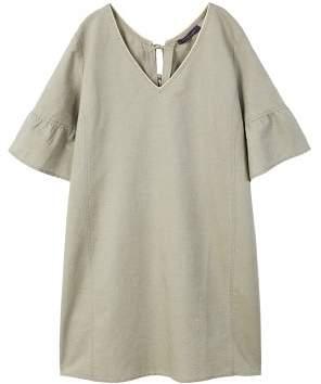 Violeta BY MANGO Ribbed metallic linen dress