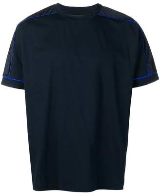 Prada contrast piping detailed T-shirt