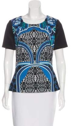 Laundry by Shelli Segal Abstract Print Top