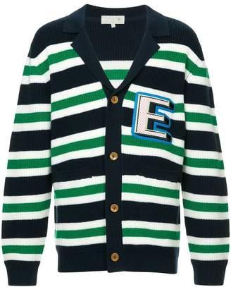 A(Lefrude)E striped v-neck cardigan