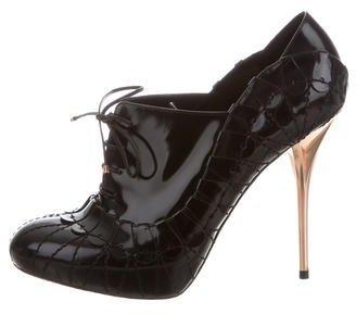 Christian Dior Platform Lace-Up Booties