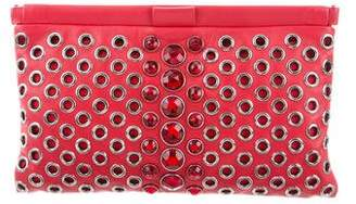Miu Miu Leather Embellished Clutch