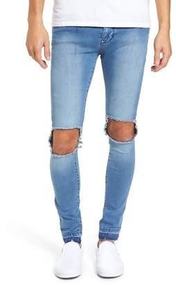 Denim & Supply Ralph Lauren Dr. Denim Supply Co Leroy Slim Fit Jeans (Mid Wrecking Blue)