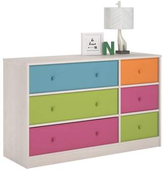 Cosco Applegate Storage Chest with 6 Fabric Bins, Enchanted Pine