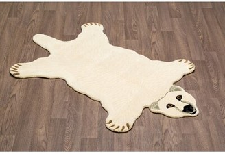 Harriet Bee Chad Handmade White Area Rug Harriet Bee
