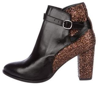 Markus Lupfer Glitter-Accented Leather Boots