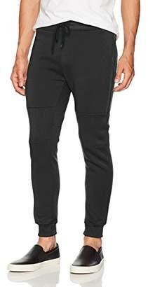 Southpole Men's Active Basic Jogger Fleece Pants (Moto and Zipper Details)