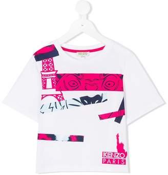 Kenzo Eiffel Tower tiger T-shirt