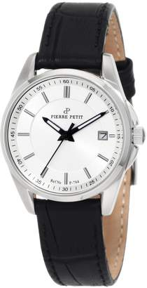 Pierre Petit Women's P-784A Serie Le Mans Dial Black Leather Date Watch