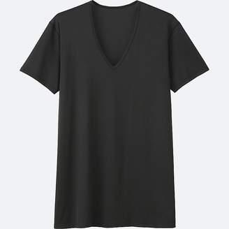 Uniqlo Men's Airism Mesh V-Neck Short-sleeve T-Shirt