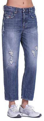 Diesel Aryel Distressed Straight-Fit Jeans