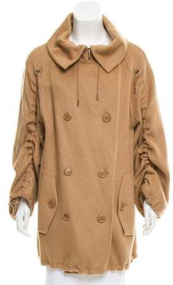 Akris Camel Hair Knee-Length Coat