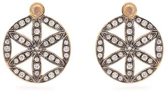 NOOR FARES Diamond, moonstone & yellow-gold earrings