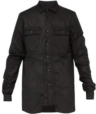 Rick Owens Patch Pocket Denim Jacket - Mens - Black
