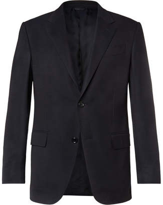 Ermenegildo Zegna Navy 10-Pocket Stretch Wool And Silk-Blend Blazer