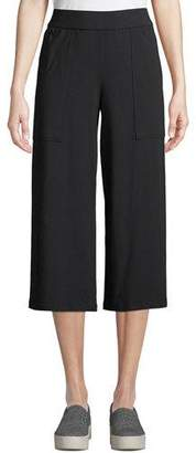 Eileen Fisher Organic Cotton Jersey Ankle Pants w/ Pockets, Petite