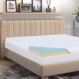 "GranRest 4 "" 2 Layer Comfort Memory Foam Mattress Pad, Bed Topper"