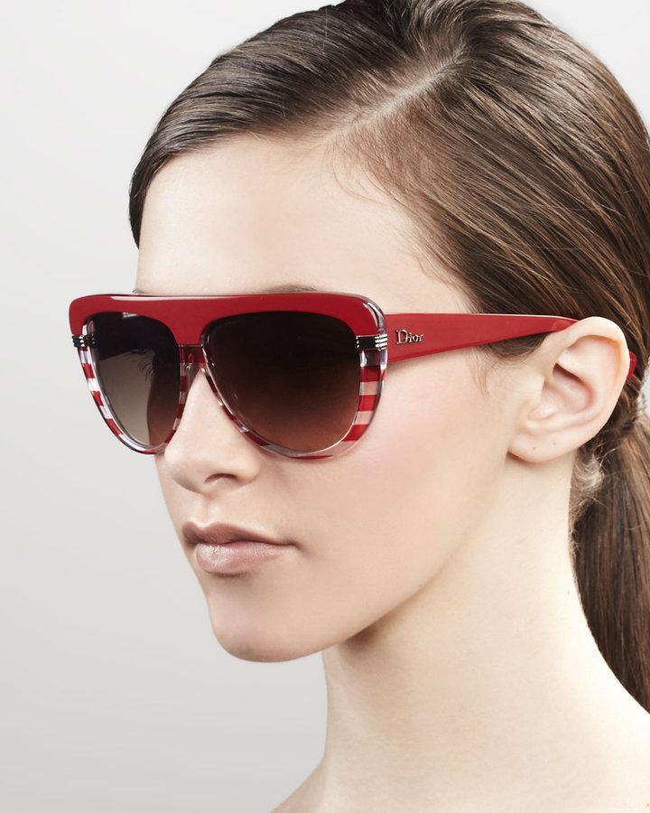 Christian Dior Croisette Sunglasses, Red