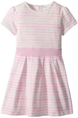 Toobydoo Pretty Pink Stripes Party Dress - Soft Cotton Girl's Dress