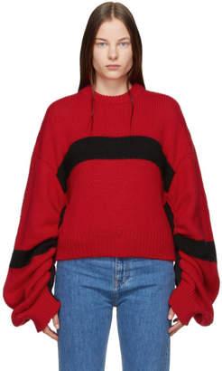Calvin Klein Jeans Est. 1978 Red and Black Crewneck Sweater