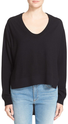 T by Alexander Wang Mixed Media V Neck Pullover $450 thestylecure.com